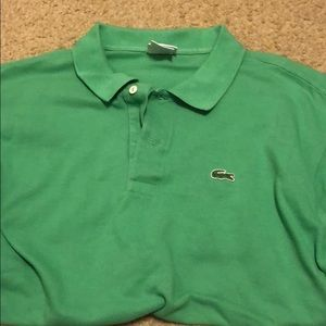Lacoste men's Large green polo